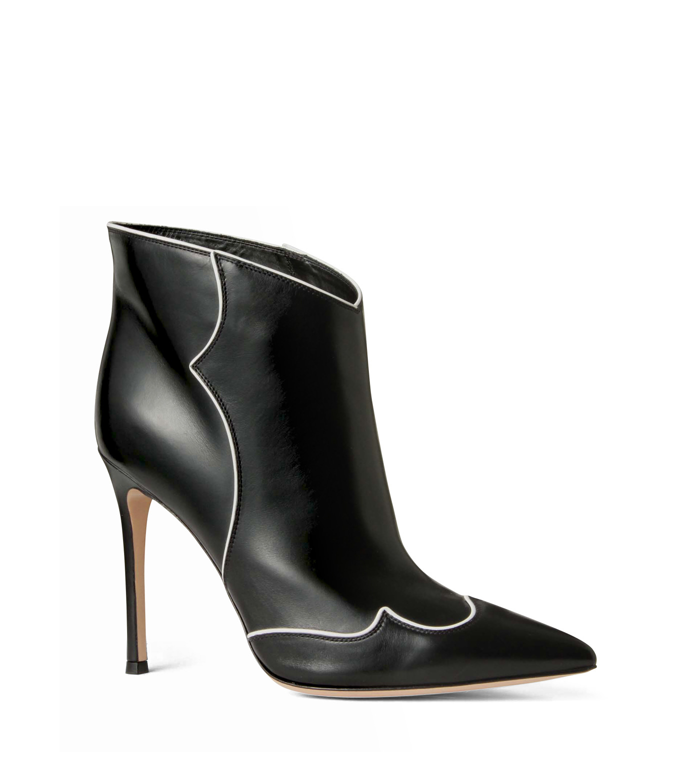 Gianvito Rossi(ジャンヴィト ロッシ)のWestern Stitch Bootie-BLACK(シューズ/shoes)-GQ05936-13 拡大詳細画像1