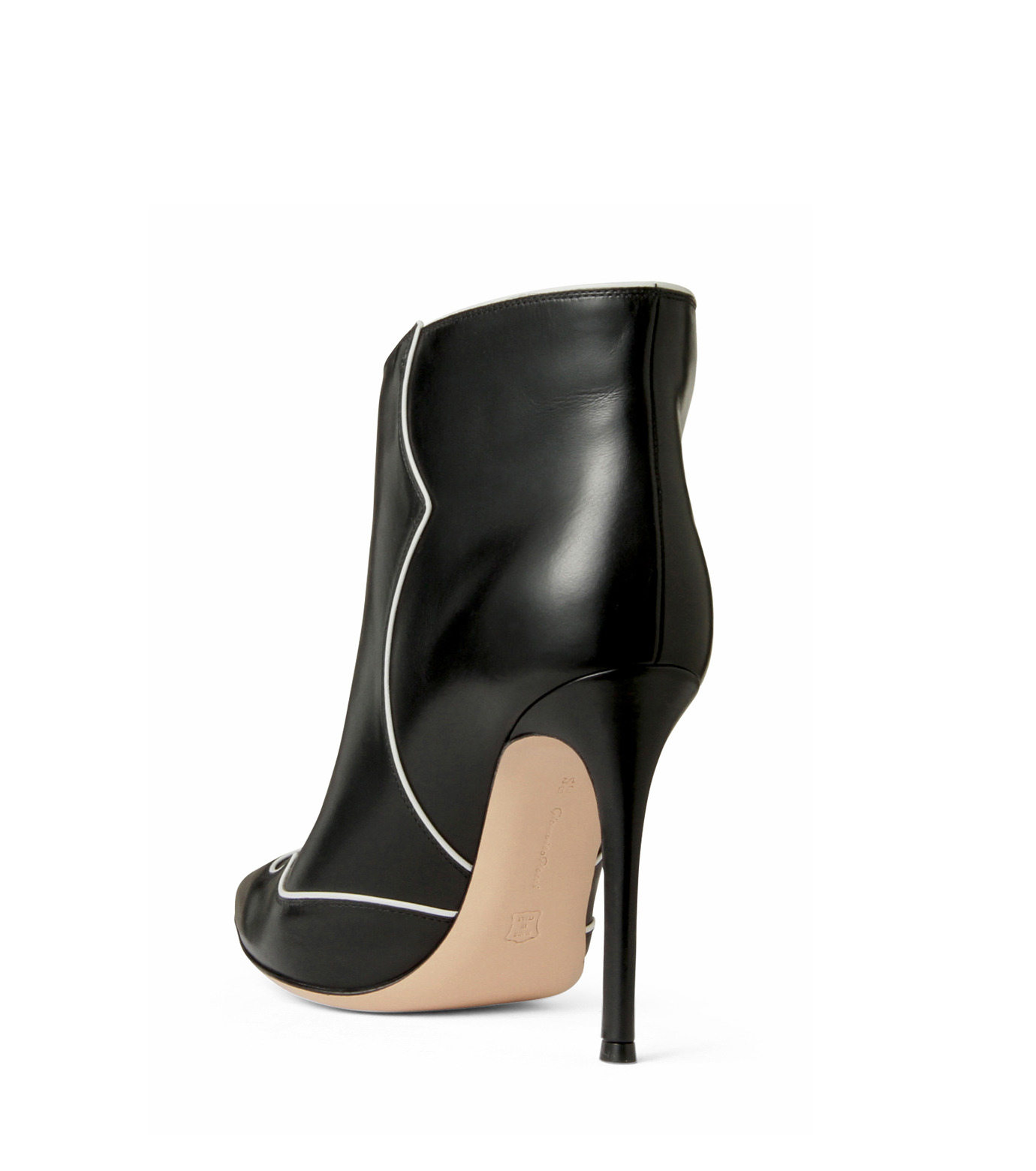 Gianvito Rossi(ジャンヴィト ロッシ)のWestern Stitch Bootie-BLACK(シューズ/shoes)-GQ05936-13 拡大詳細画像2