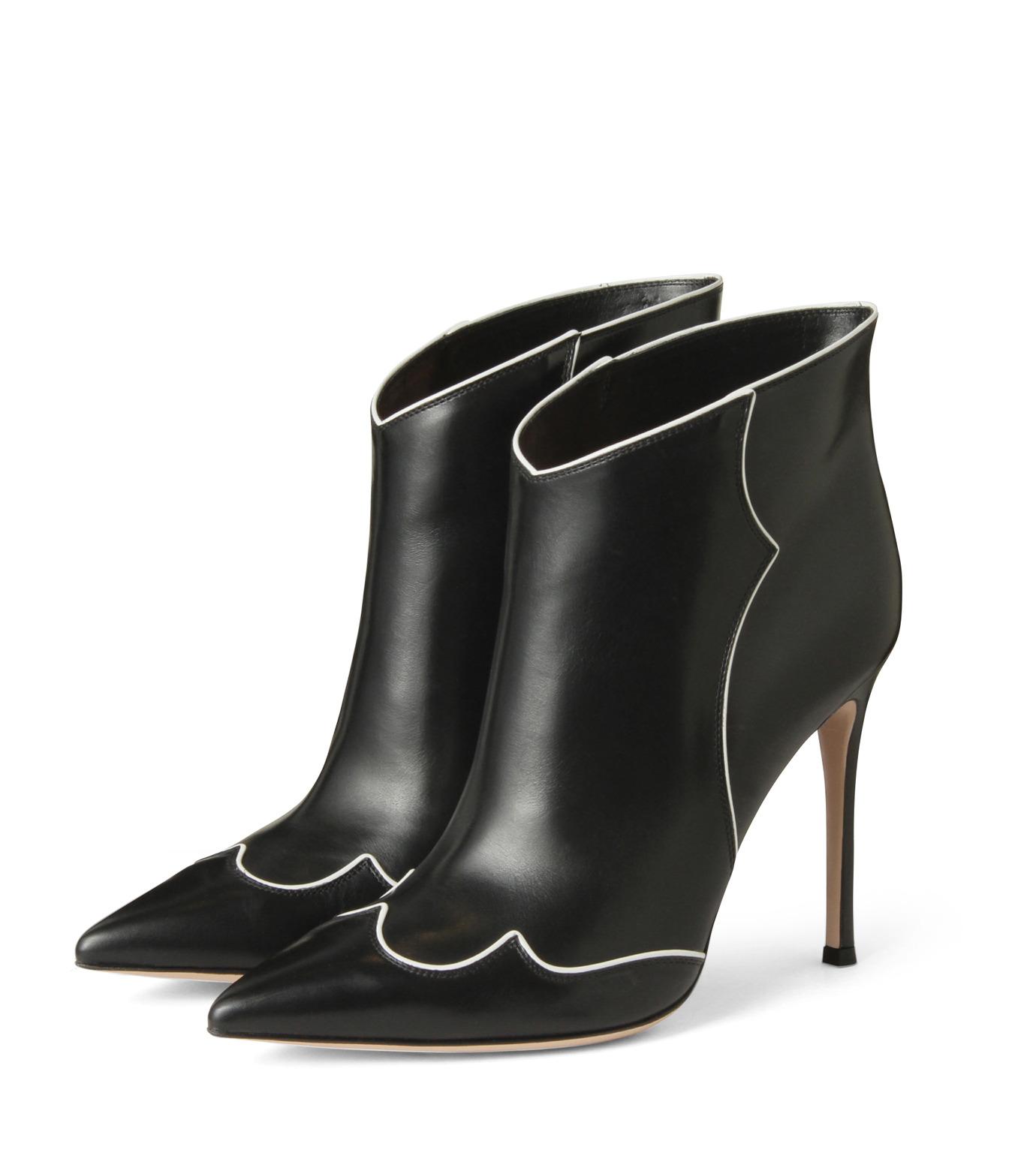 Gianvito Rossi(ジャンヴィト ロッシ)のWestern Stitch Bootie-BLACK(シューズ/shoes)-GQ05936-13 拡大詳細画像3