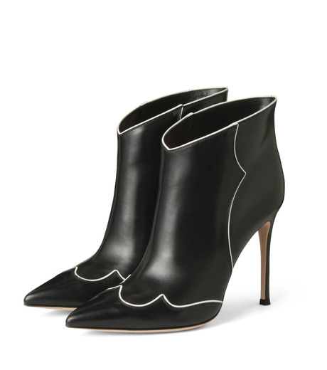 Gianvito Rossi(ジャンヴィト ロッシ)のWestern Stitch Bootie-BLACK(シューズ/shoes)-GQ05936-13 詳細画像3