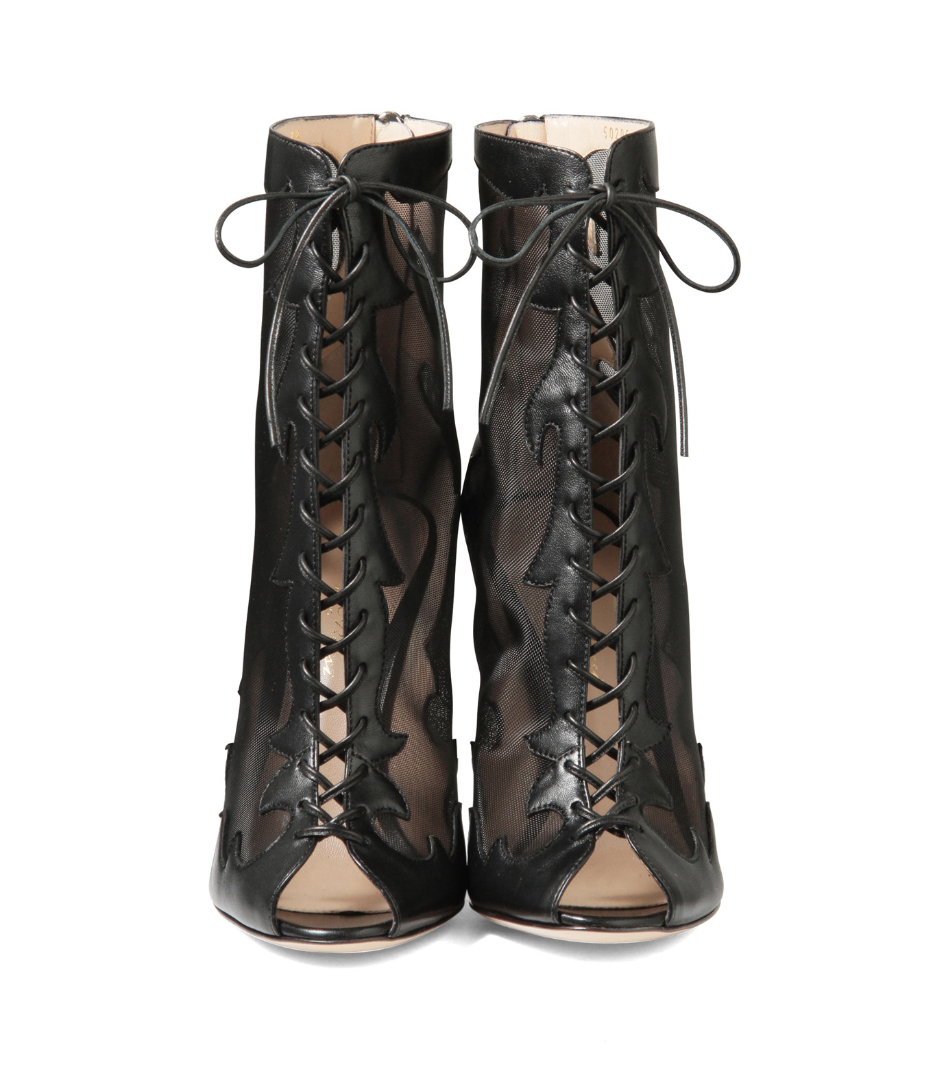 Gianvito Rossi(ジャンヴィト ロッシ)のWestern Sheer Lace Up Boots-BLACK(シューズ/shoes)-GQ50205-13 拡大詳細画像4