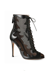 Gianvito Rossi Western Sheer Lace Up Boots