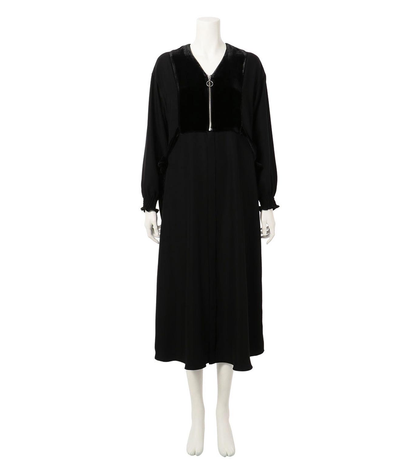 G.V.G.V.(ジーヴィジーヴィ)のVELVET PANEL DRESS-BLACK(ドレス/dress)-GV1641003-13 拡大詳細画像1