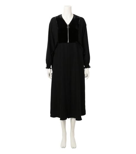 G.V.G.V.(ジーヴィジーヴィ)のVELVET PANEL DRESS-BLACK(ドレス/dress)-GV1641003-13 詳細画像1