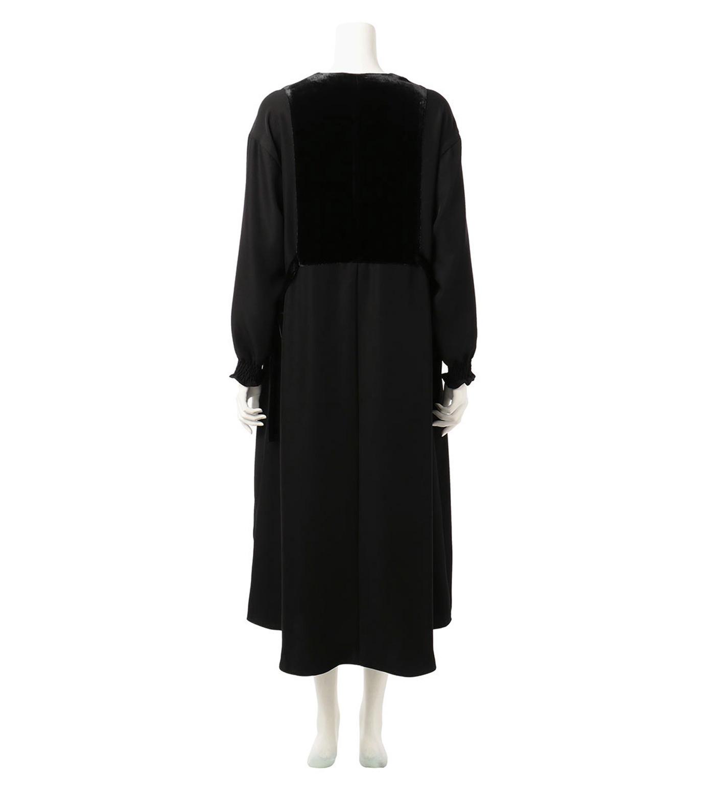 G.V.G.V.(ジーヴィジーヴィ)のVELVET PANEL DRESS-BLACK(ドレス/dress)-GV1641003-13 拡大詳細画像2