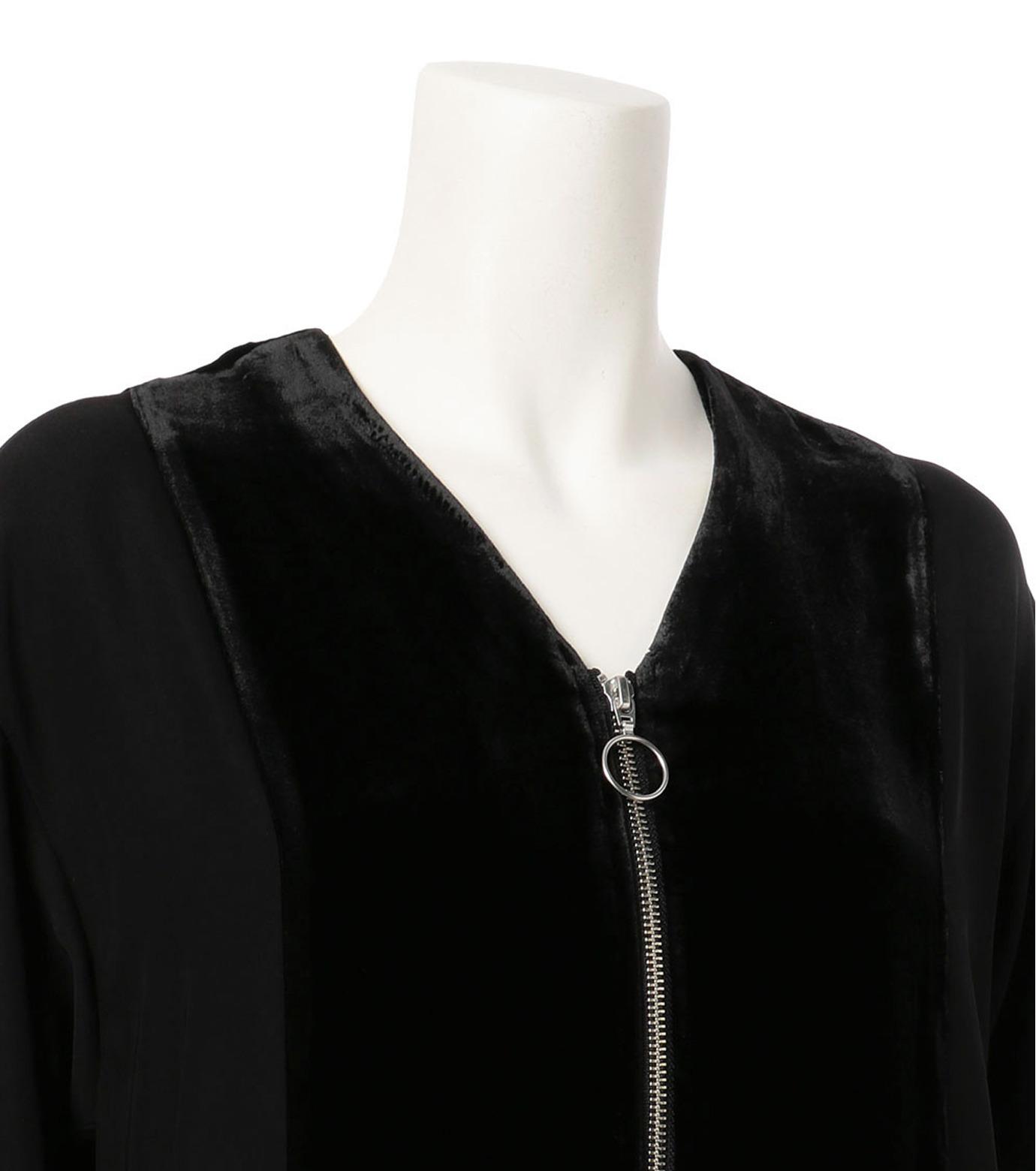 G.V.G.V.(ジーヴィジーヴィ)のVELVET PANEL DRESS-BLACK(ドレス/dress)-GV1641003-13 拡大詳細画像3