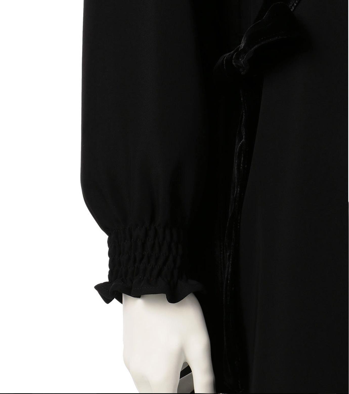 G.V.G.V.(ジーヴィジーヴィ)のVELVET PANEL DRESS-BLACK(ドレス/dress)-GV1641003-13 拡大詳細画像4