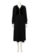 G.V.G.V.(ジーヴィジーヴィ) VELVET PANEL DRESS
