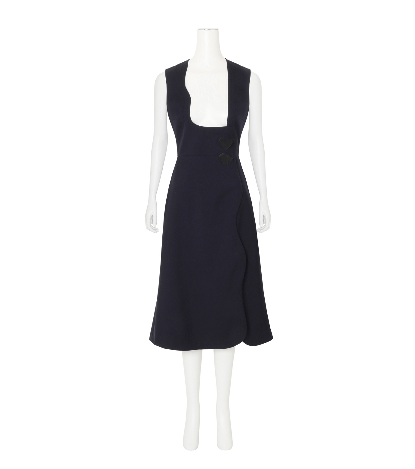 Roksanda(ロクサンダ)のHebring Jumperskirt Dress-NAVY(ワンピース/one piece)-H1010-2-93 拡大詳細画像1