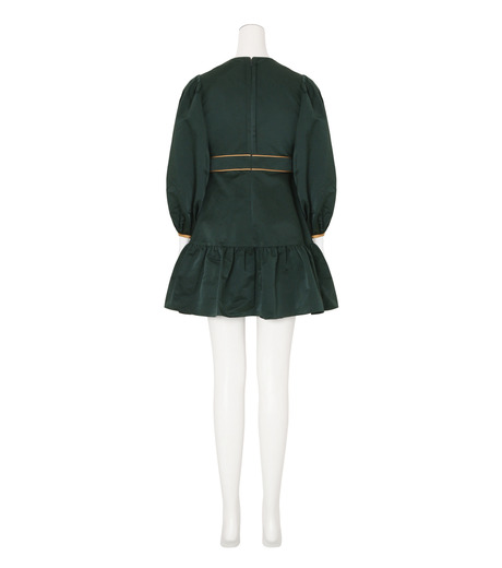 Roksanda(ロクサンダ)のDelia Taffeta Dress-DARK GREEN(ワンピース/one piece)-H1034-2-23 詳細画像2
