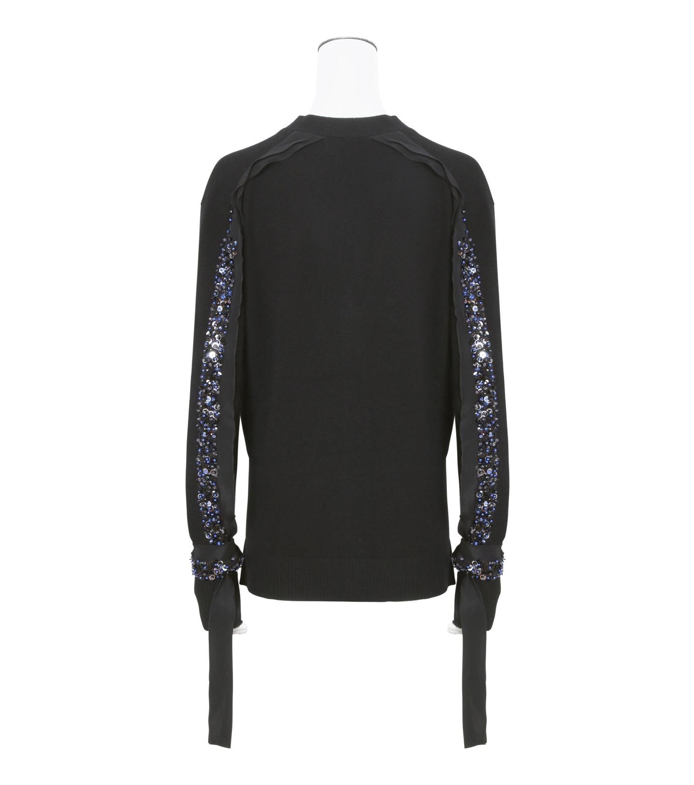 3.1 Phillip Lim(スリーワン フィリップリム)のEmbellished Cardigan-BLACK(ニット/knit)-H161-7741EWC-13 拡大詳細画像2