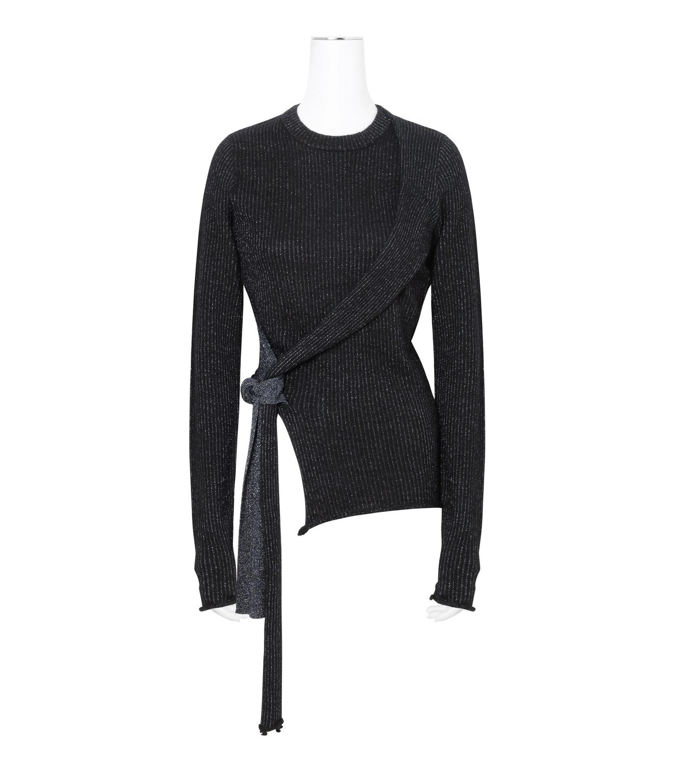 3.1 Phillip Lim(スリーワン フィリップリム)のLurex Tie Pullover-NAVY(ニット/knit)-H161-7745SLM-93 拡大詳細画像1