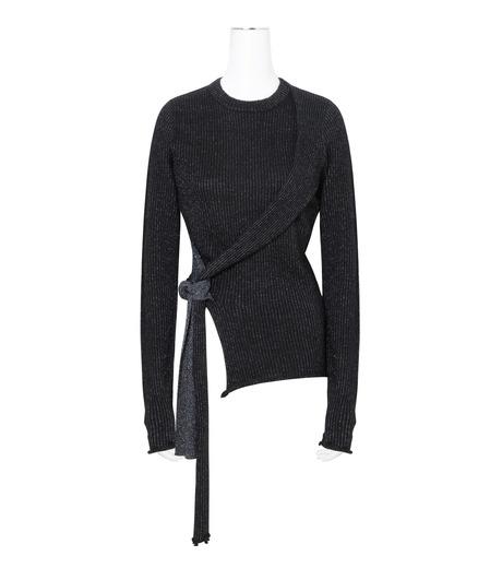 3.1 Phillip Lim(スリーワン フィリップリム)のLurex Tie Pullover-NAVY(ニット/knit)-H161-7745SLM-93 詳細画像1