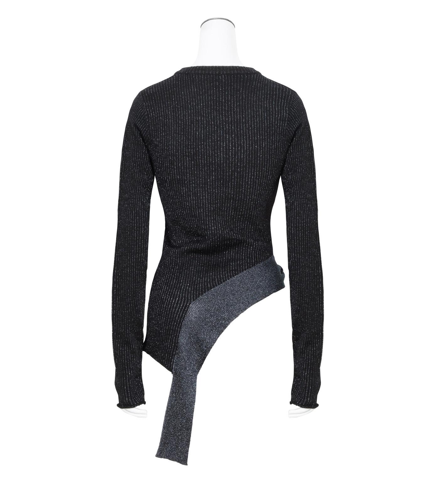 3.1 Phillip Lim(スリーワン フィリップリム)のLurex Tie Pullover-NAVY(ニット/knit)-H161-7745SLM-93 拡大詳細画像2