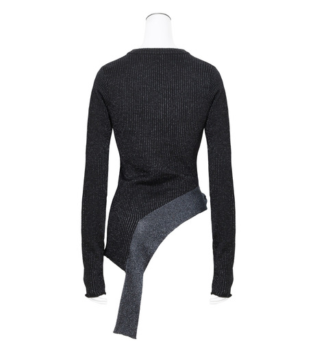 3.1 Phillip Lim(スリーワン フィリップリム)のLurex Tie Pullover-NAVY(ニット/knit)-H161-7745SLM-93 詳細画像2