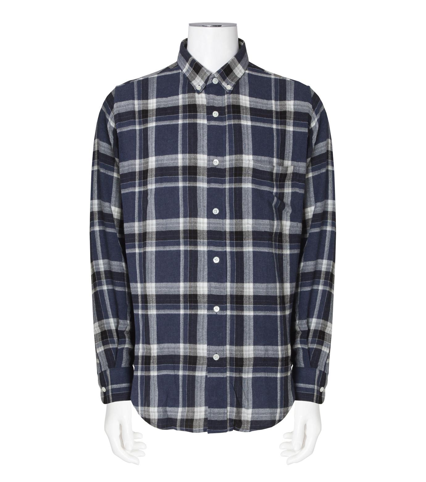 Ami(アミ)のCheck Shirt-NAVY(シャツ/shirt)-H16C05-49-93 拡大詳細画像1
