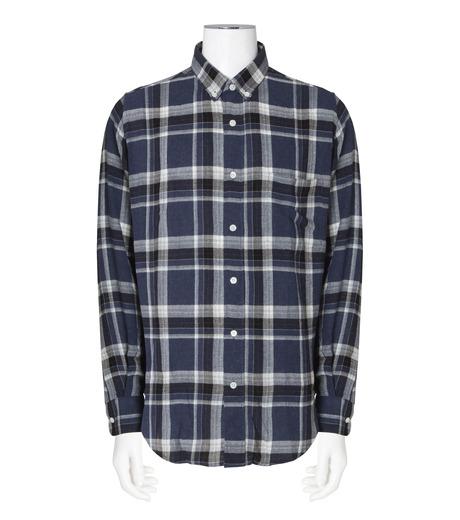 Ami(アミ)のCheck Shirt-NAVY(シャツ/shirt)-H16C05-49-93 詳細画像1