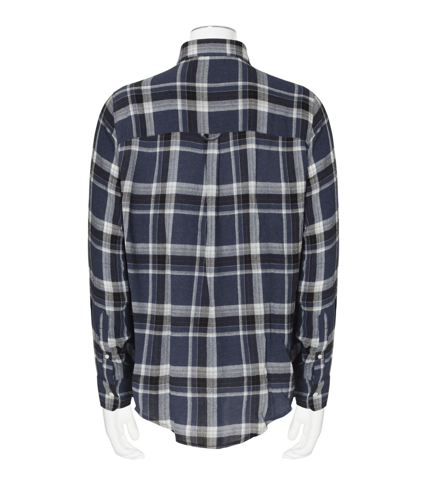 Ami(アミ)のCheck Shirt-NAVY(シャツ/shirt)-H16C05-49-93 拡大詳細画像2