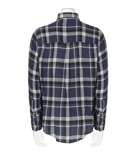 Ami(アミ)のCheck Shirt-NAVY(シャツ/shirt)-H16C05-49-93 詳細画像2