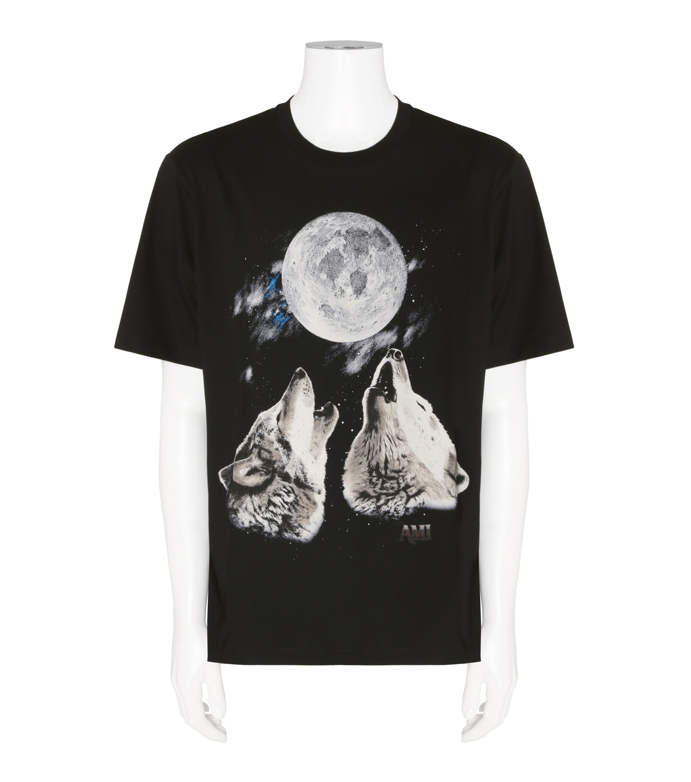 Ami(アミ)のPrint T-BLACK(カットソー/cut and sewn)-H16J103-76-13 拡大詳細画像1