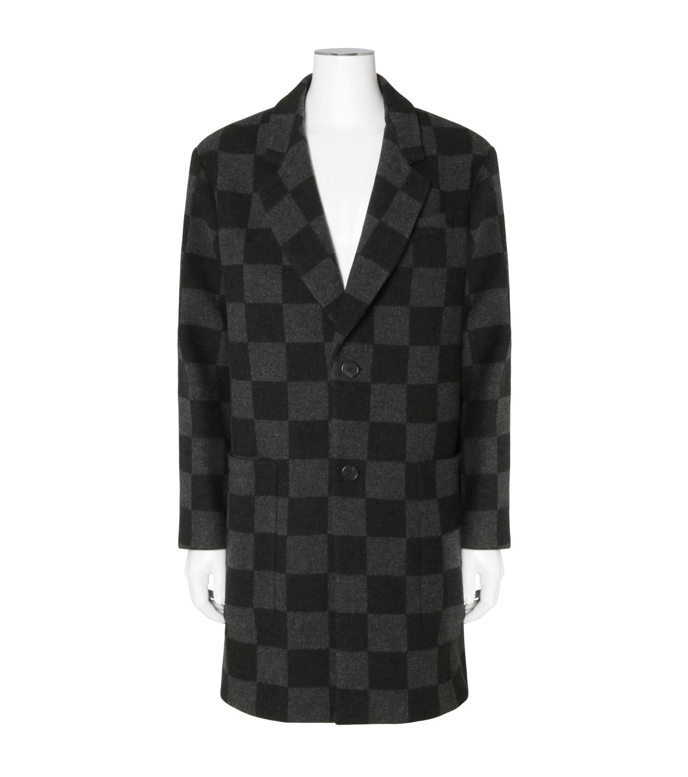 Ami(アミ)のHoundtooth Coat-GRAY(コート/coat)-H16M09-20-11 拡大詳細画像1