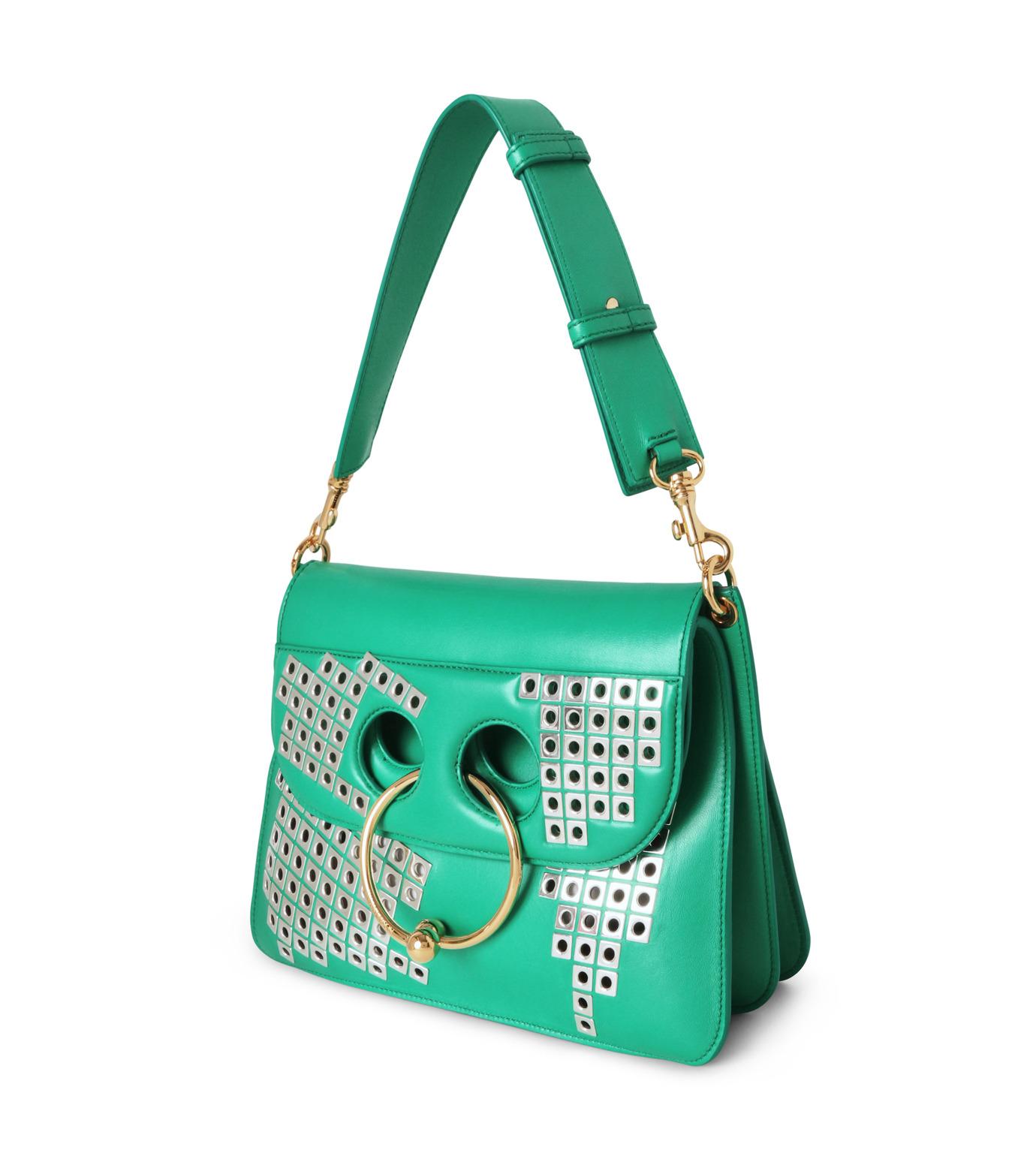 J.W.Anderson(ジェイダブリュー アンダーソン)のMedium Piearc Bag w/Studs-GREEN(ショルダーバッグ/shoulder bag)-HB10-22 拡大詳細画像2