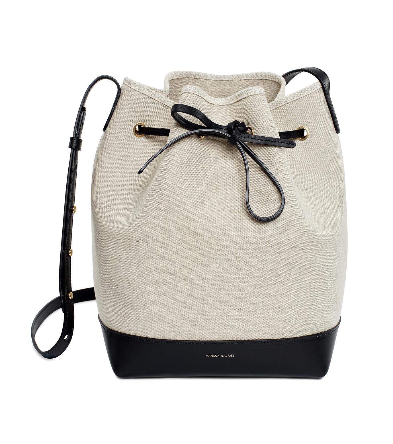 Mansur Gavriel(マンサーガブリエル)のCanvas Bucket Bag-WHITE(バッグ/bag)-HBB003CN-5 拡大詳細画像1