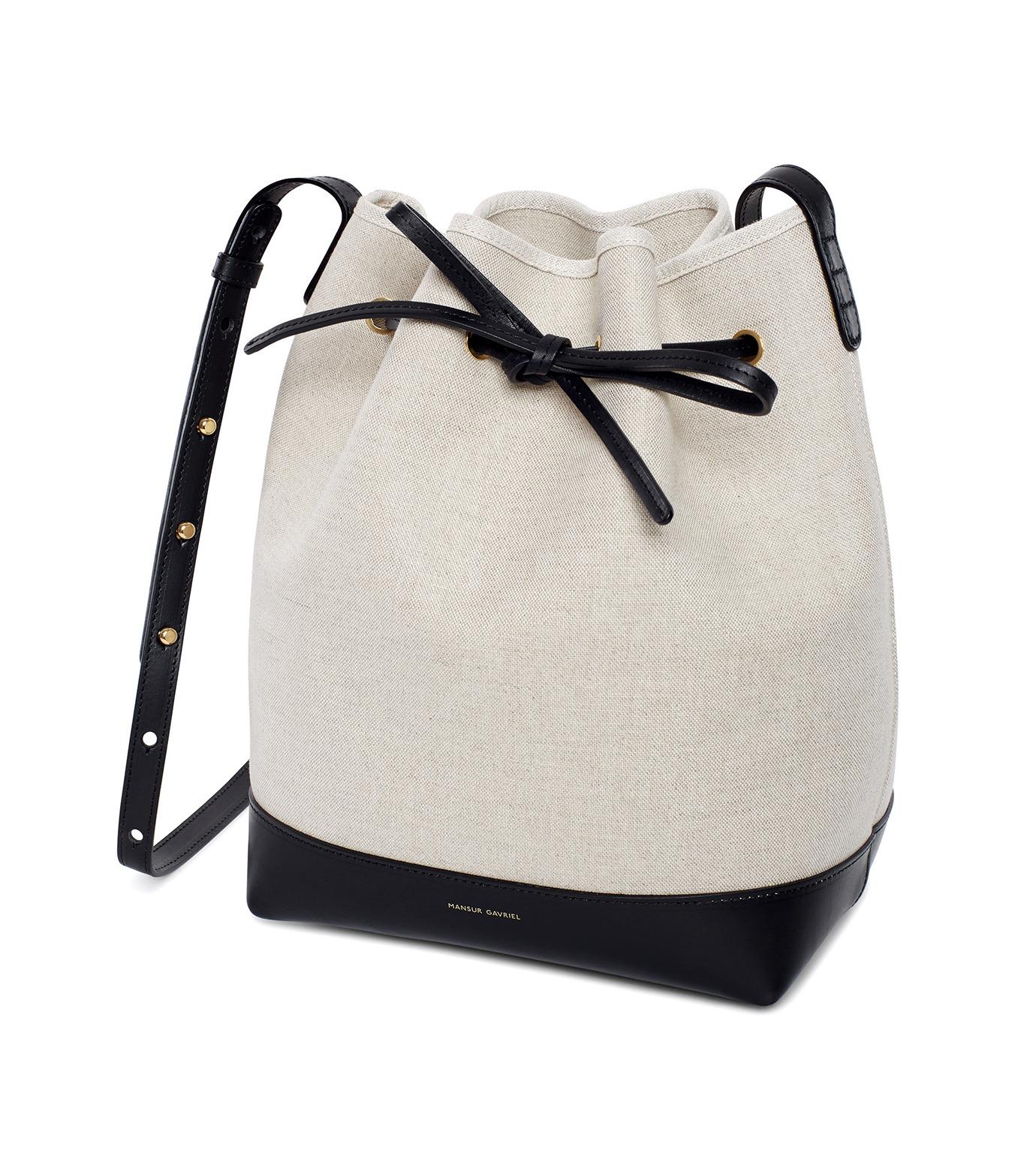 Mansur Gavriel(マンサーガブリエル)のCanvas Bucket Bag-WHITE(バッグ/bag)-HBB003CN-5 拡大詳細画像2
