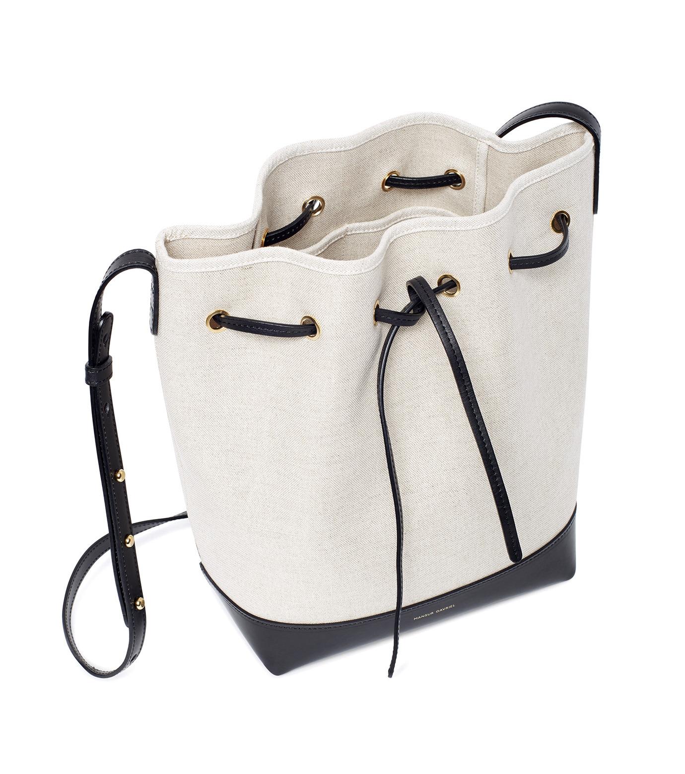 Mansur Gavriel(マンサーガブリエル)のCanvas Bucket Bag-WHITE(バッグ/bag)-HBB003CN-5 拡大詳細画像3
