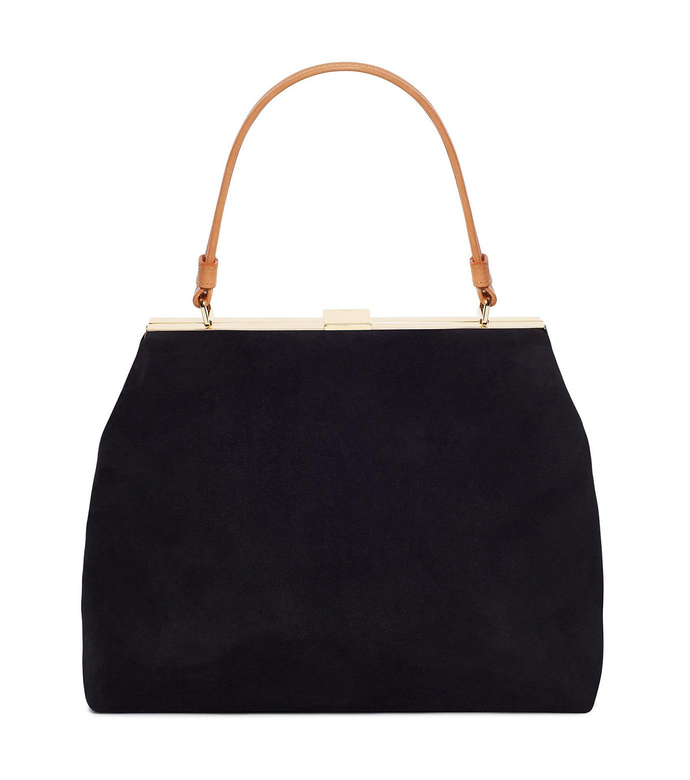 Mansur Gavriel(マンサーガブリエル)のsuede elegant bag-BLACK(ハンドバッグ/hand bag)-HEB024SU-13 拡大詳細画像1
