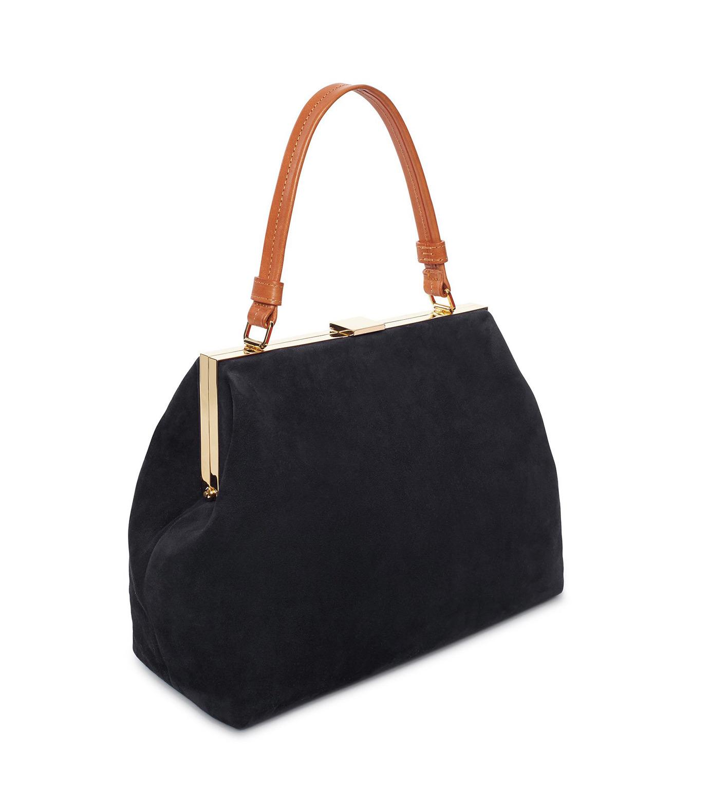 Mansur Gavriel(マンサーガブリエル)のsuede elegant bag-BLACK(ハンドバッグ/hand bag)-HEB024SU-13 拡大詳細画像2