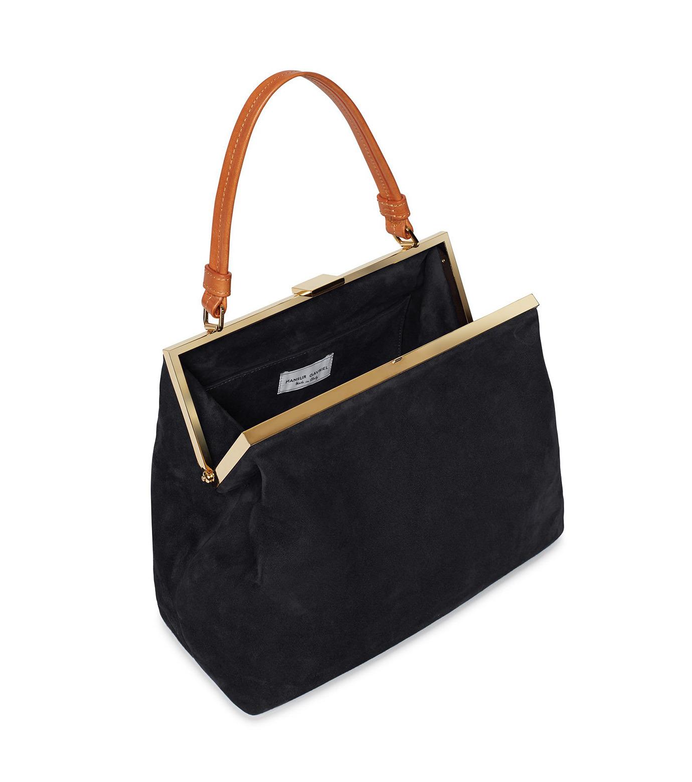 Mansur Gavriel(マンサーガブリエル)のsuede elegant bag-BLACK(ハンドバッグ/hand bag)-HEB024SU-13 拡大詳細画像3