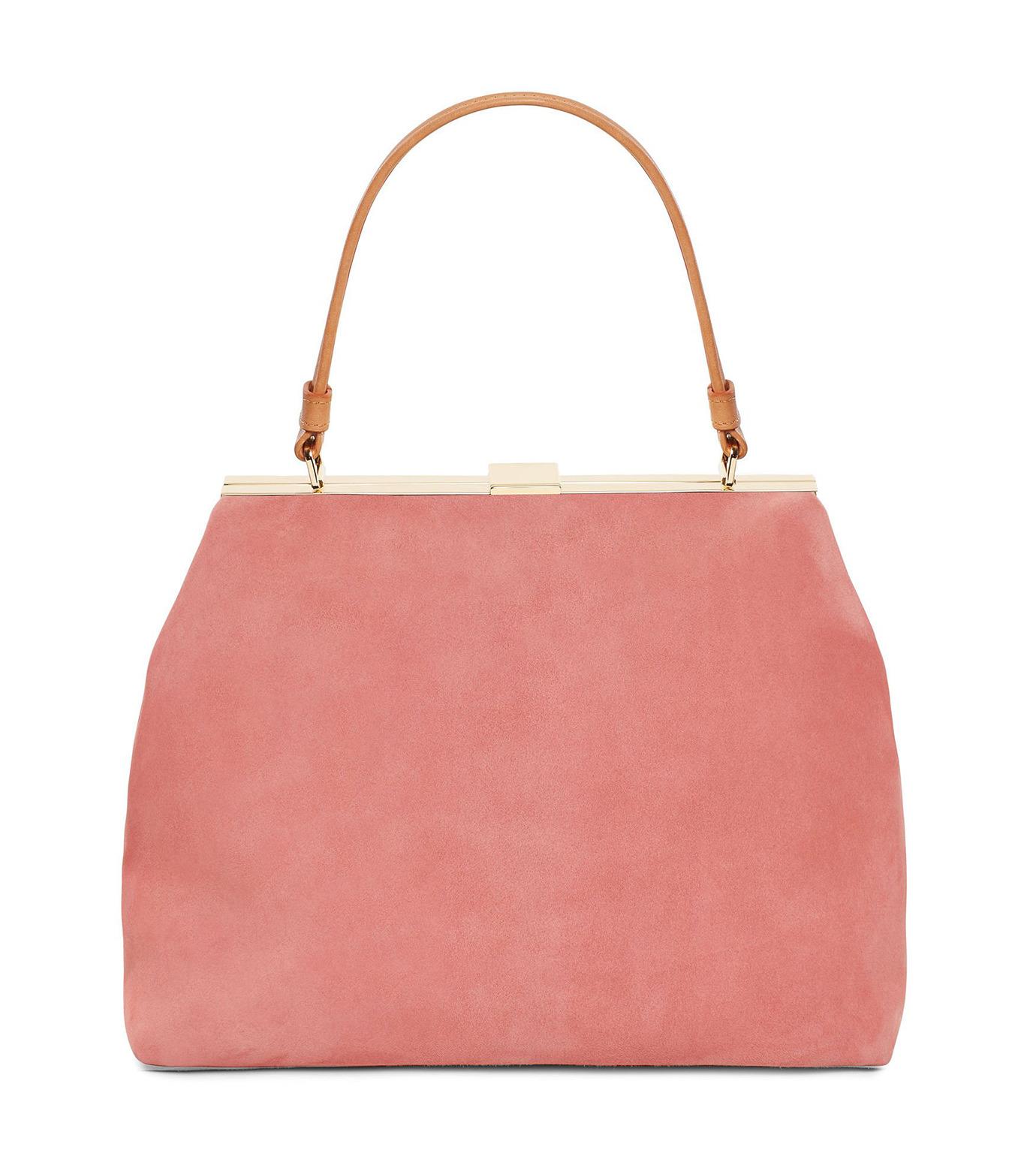 Mansur Gavriel(マンサーガブリエル)のsuede elegant bag-LIGHT PINK(ハンドバッグ/hand bag)-HEB024SU-71 拡大詳細画像1