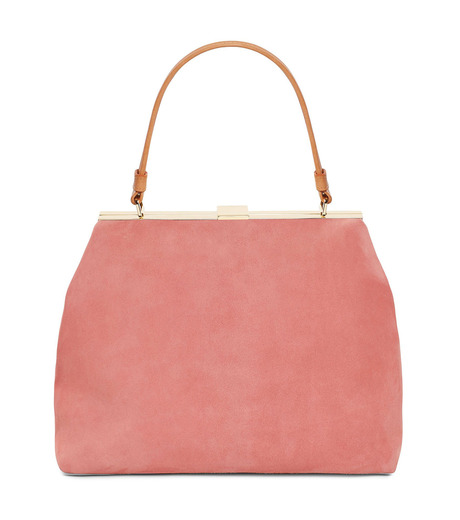Mansur Gavriel(マンサーガブリエル)のsuede elegant bag-LIGHT PINK(ハンドバッグ/hand bag)-HEB024SU-71 詳細画像1