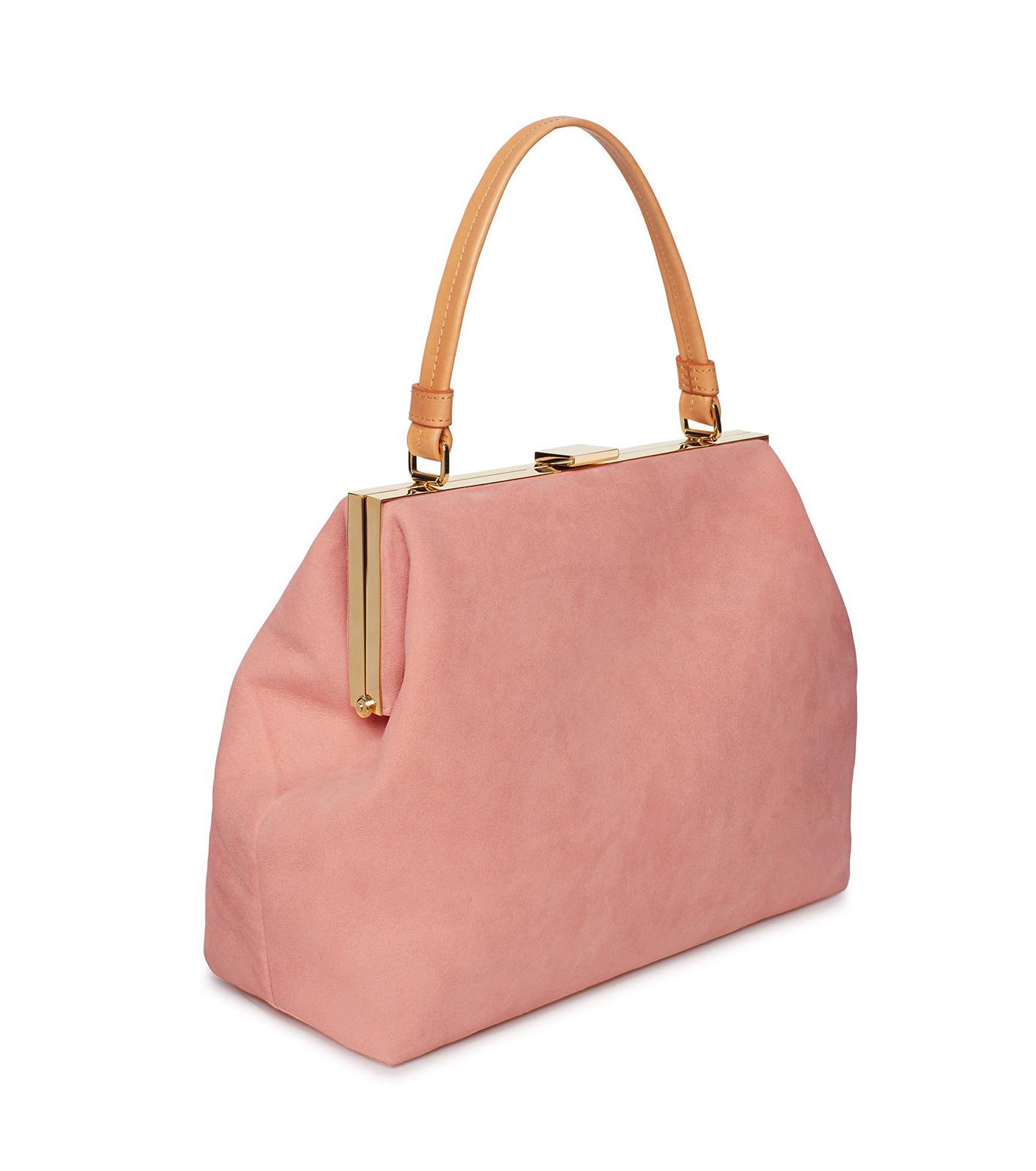 Mansur Gavriel(マンサーガブリエル)のsuede elegant bag-LIGHT PINK(ハンドバッグ/hand bag)-HEB024SU-71 拡大詳細画像2