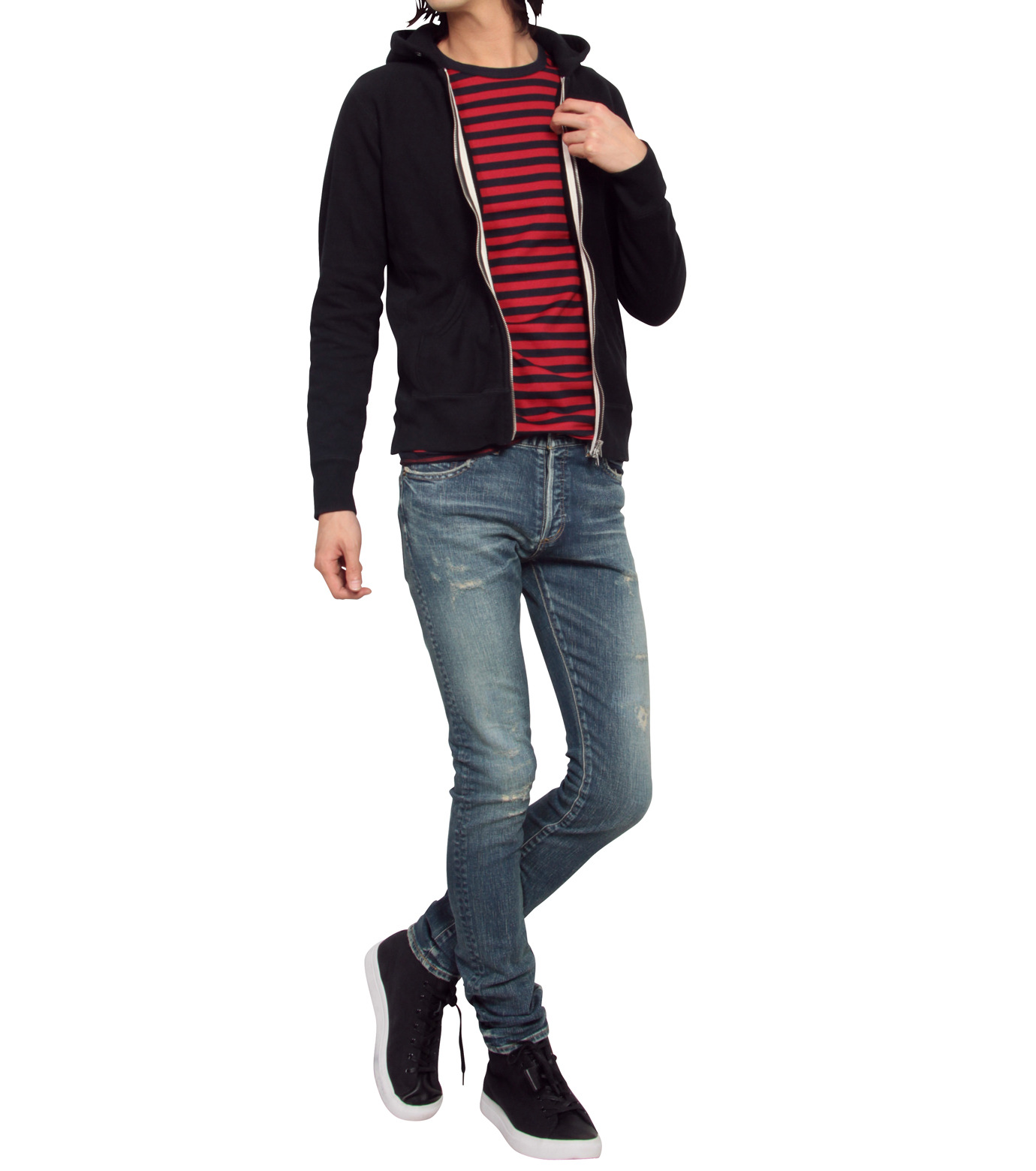HL HEDDIE LOVU(エイチエル・エディールーヴ)のHL skinDamage-BLUE(パンツ/pants)-HL-skinDamag-92 拡大詳細画像3