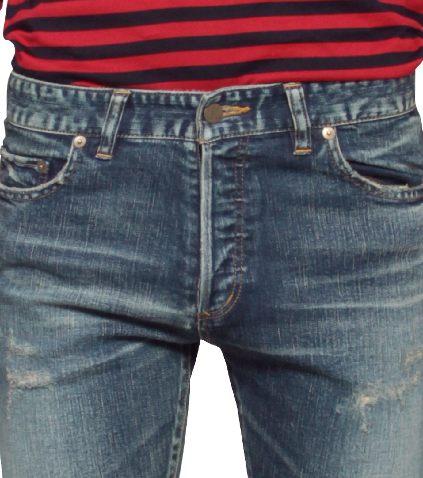 HL HEDDIE LOVU(エイチエル・エディールーヴ)のHL skinDamage-BLUE(パンツ/pants)-HL-skinDamag-92 拡大詳細画像4