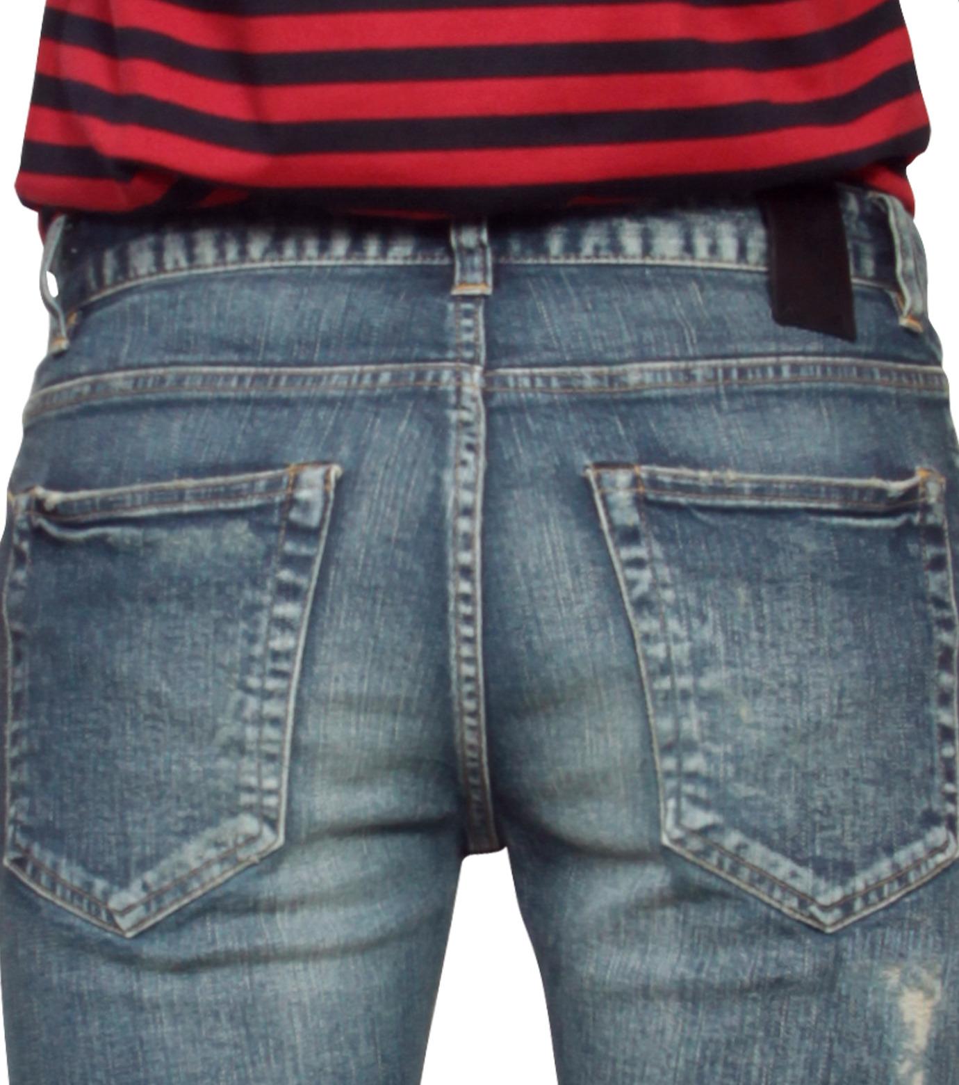 HL HEDDIE LOVU(エイチエル・エディールーヴ)のHL skinDamage-BLUE(パンツ/pants)-HL-skinDamag-92 拡大詳細画像5
