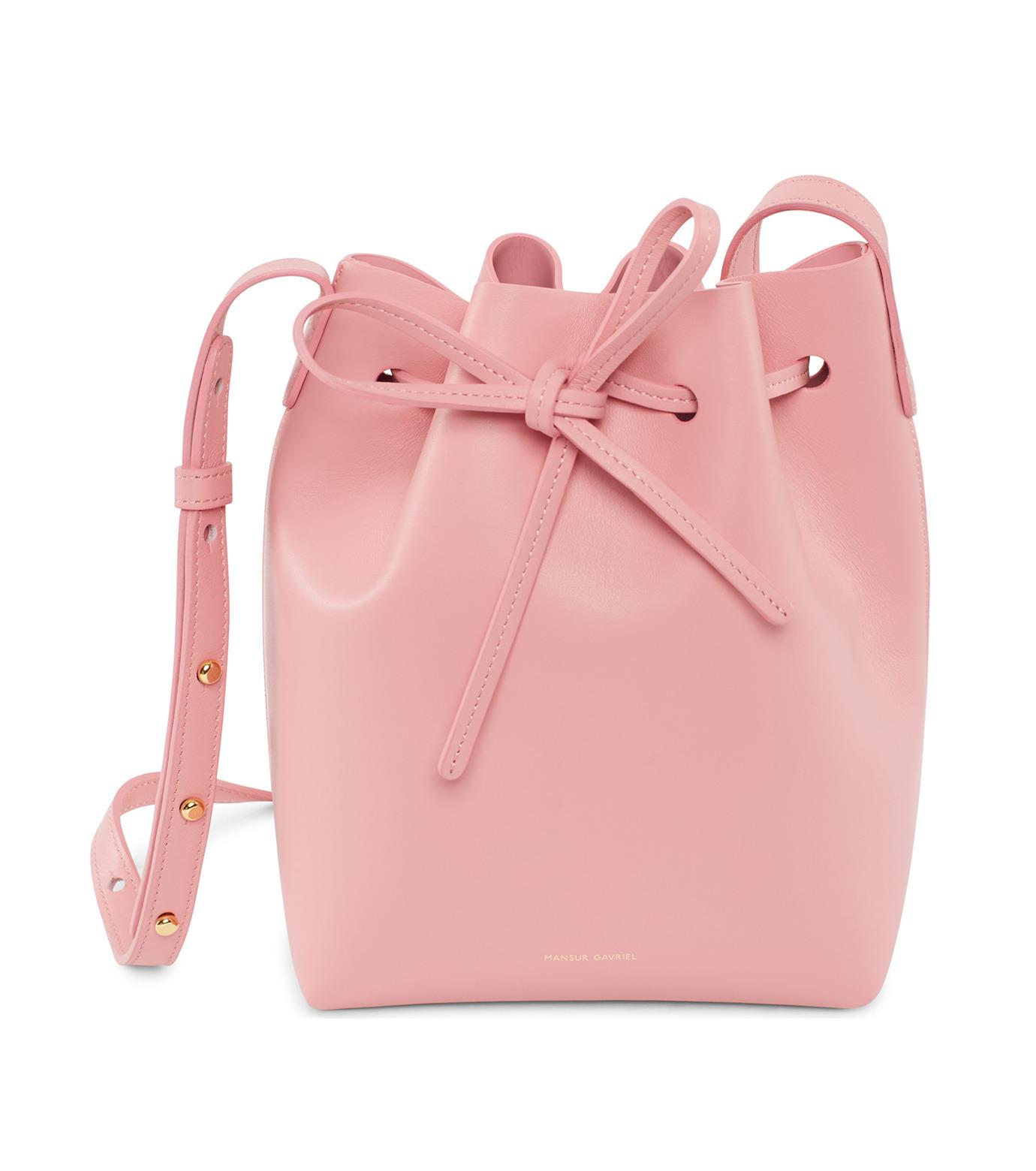 Mansur Gavriel(マンサーガブリエル)のMini Bucket Bag-PINK(バッグ/bag)-HMB004CA-72 拡大詳細画像1
