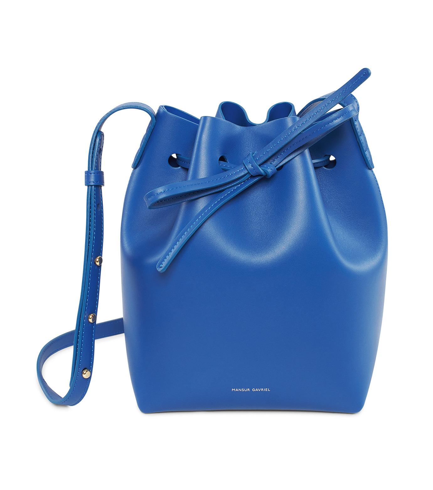Mansur Gavriel(マンサーガブリエル)のMini Bucket Bag-BLUE(バッグ/bag)-HMB004CA-92 拡大詳細画像1