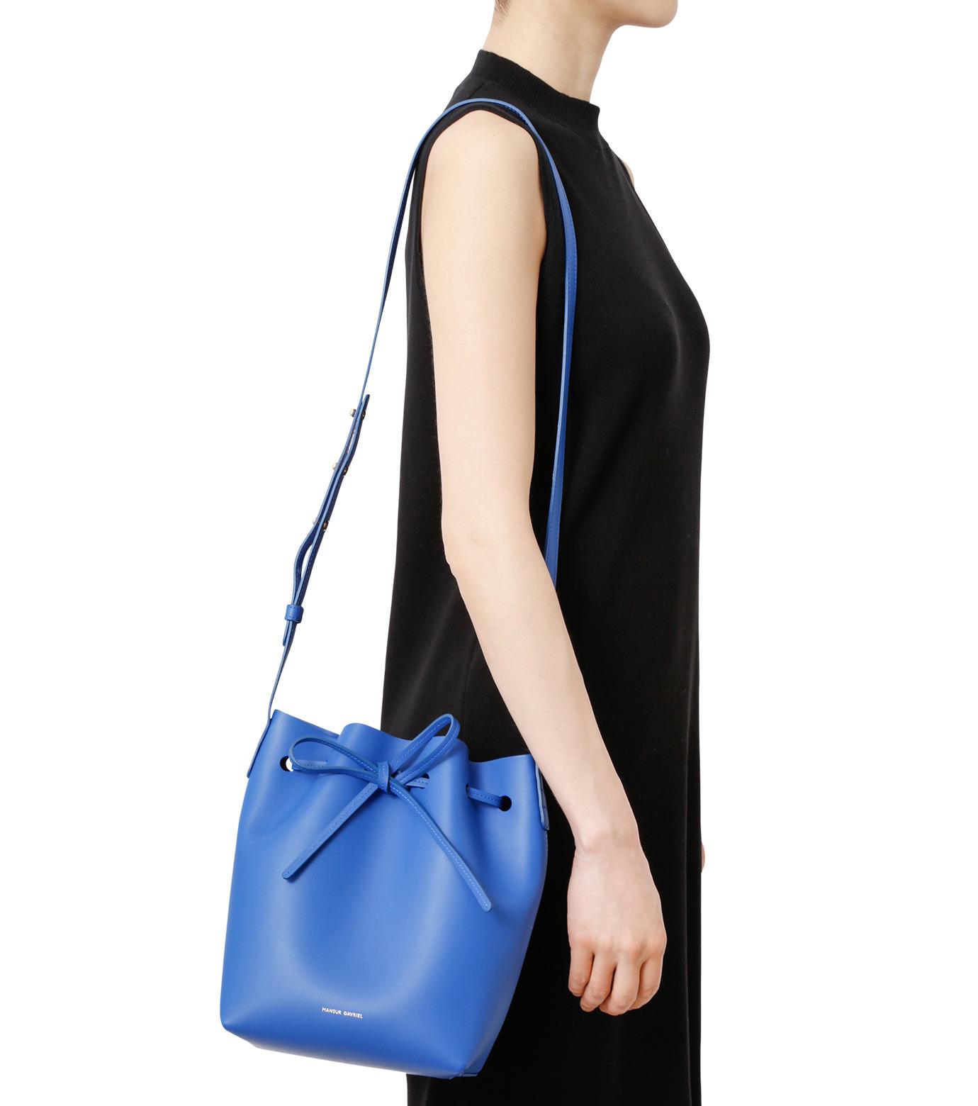 Mansur Gavriel(マンサーガブリエル)のMini Bucket Bag-BLUE(バッグ/bag)-HMB004CA-92 拡大詳細画像4