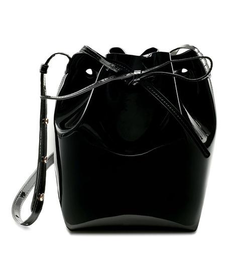 Mansur Gavriel(マンサーガブリエル)のpatent mini bucket bag-BLACK(ハンドバッグ/hand bag)-HMB004PA-13 詳細画像1