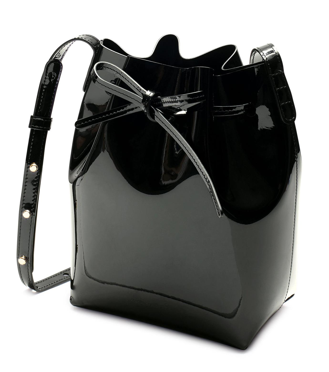 Mansur Gavriel(マンサーガブリエル)のpatent mini bucket bag-BLACK(ハンドバッグ/hand bag)-HMB004PA-13 拡大詳細画像2