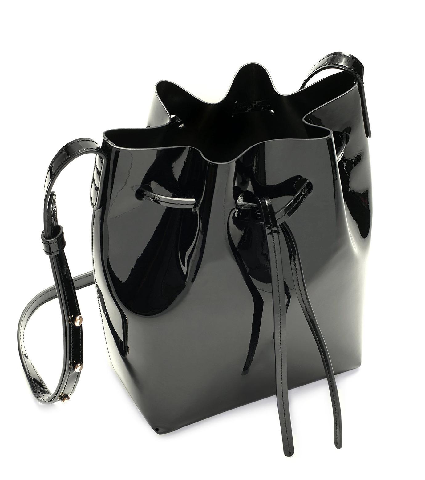 Mansur Gavriel(マンサーガブリエル)のpatent mini bucket bag-BLACK(ハンドバッグ/hand bag)-HMB004PA-13 拡大詳細画像3