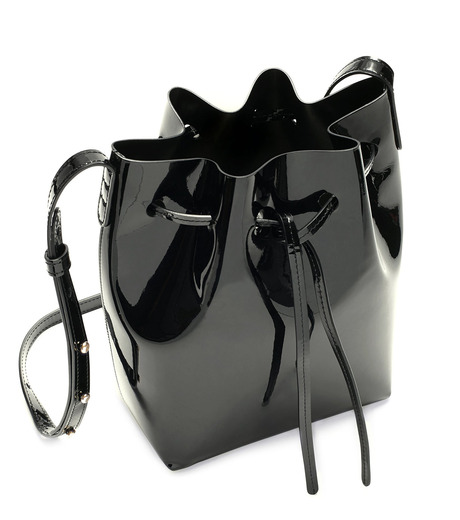 Mansur Gavriel(マンサーガブリエル)のpatent mini bucket bag-BLACK(ハンドバッグ/hand bag)-HMB004PA-13 詳細画像3