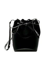 Mansur Gavriel patent mini bucket bag