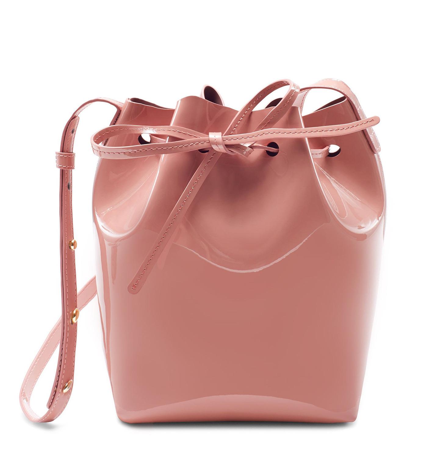 Mansur Gavriel(マンサーガブリエル)のpatent mini bucket bag-LIGHT PINK(ハンドバッグ/hand bag)-HMB004PA-71 拡大詳細画像1