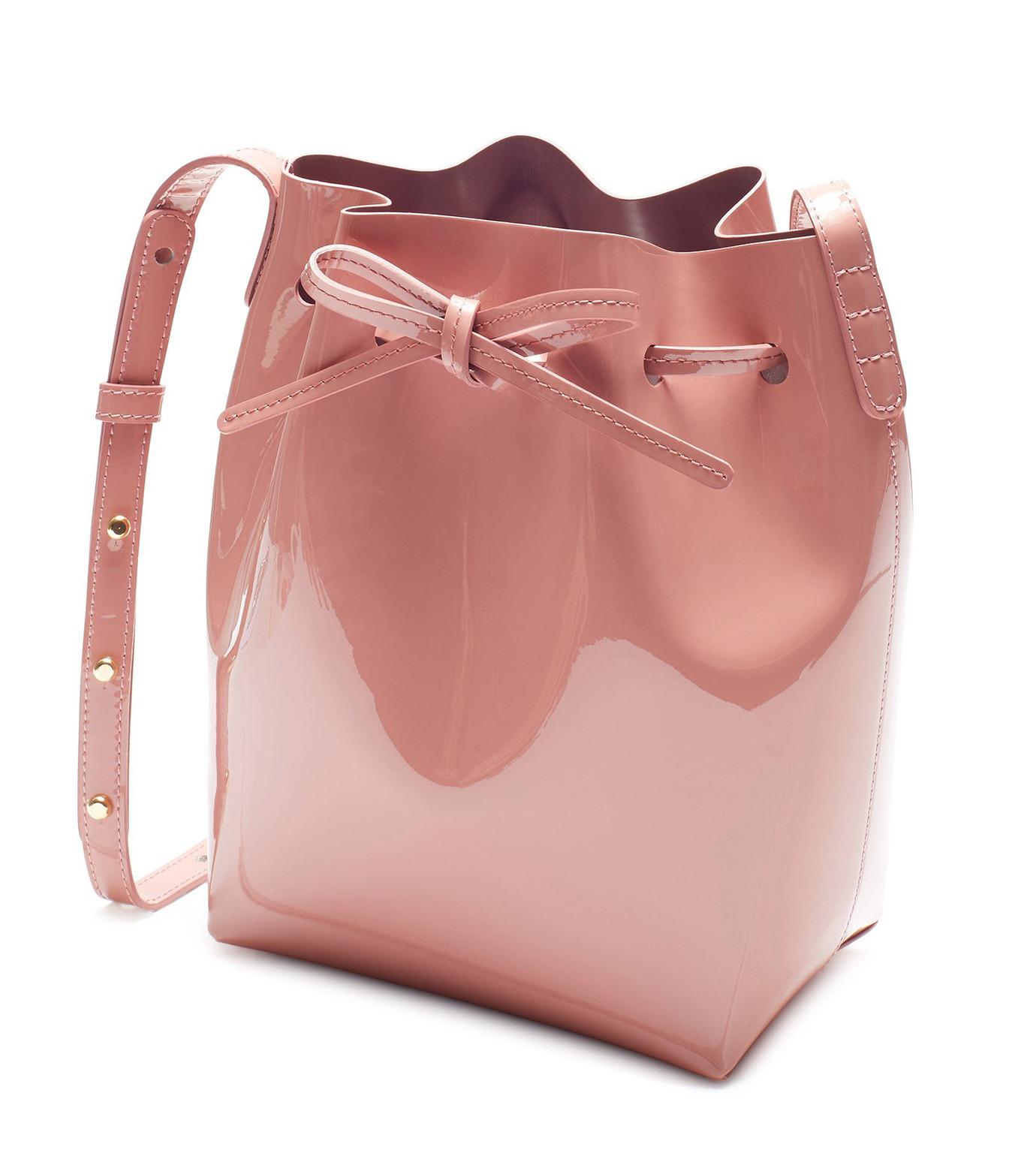 Mansur Gavriel(マンサーガブリエル)のpatent mini bucket bag-LIGHT PINK(ハンドバッグ/hand bag)-HMB004PA-71 拡大詳細画像2