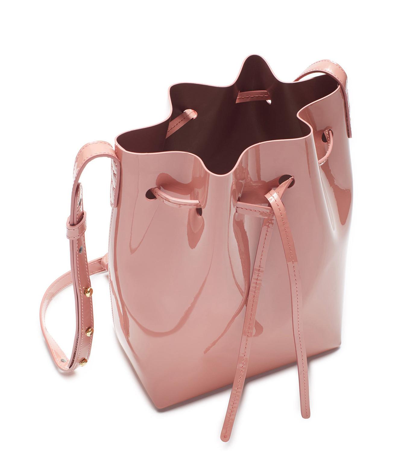 Mansur Gavriel(マンサーガブリエル)のpatent mini bucket bag-LIGHT PINK(ハンドバッグ/hand bag)-HMB004PA-71 拡大詳細画像3