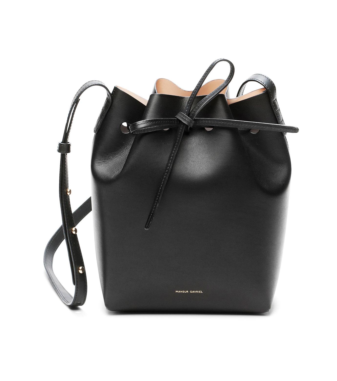 Mansur Gavriel(マンサーガブリエル)のmini bucket bag-BLACK(ショルダーバッグ/shoulder bag)-HMB004VC-13 拡大詳細画像1